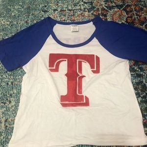VS PINK Texas Rangers T-shirt
